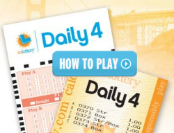 California Daily 4 How to Play
